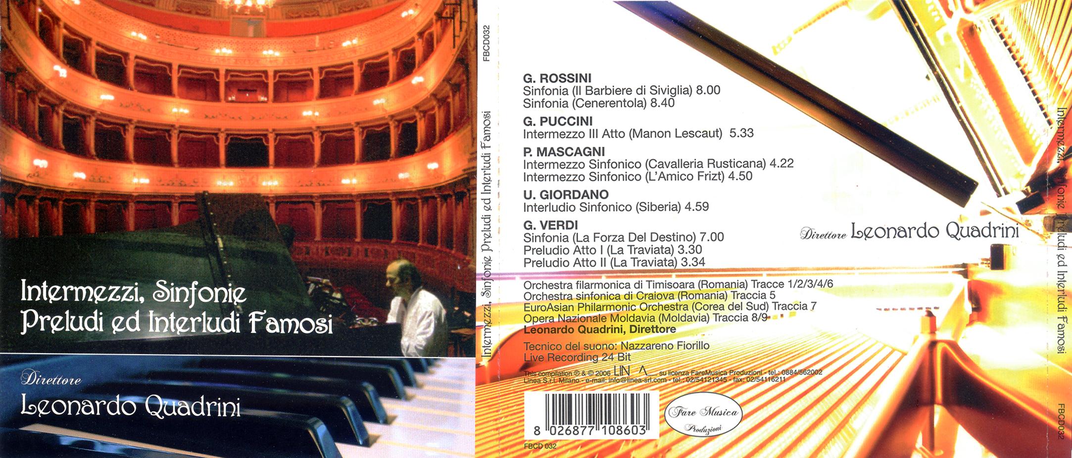 Intermezzi, Sinfonie Preludi ed Interludi Famosi